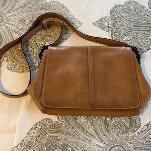 Coach Tan Leather Messenger bag